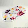 浴室防滑垫 椭圆卡通印刷PVC防滑垫