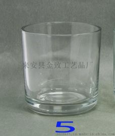 各种尺寸玻璃烛台刻花喷砂喷色电镀各种尺寸配木盖竹盖石 陶瓷金属盖