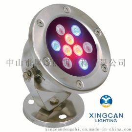 外控DMX512户外防水水下灯 喷泉灯6W9W12W18W