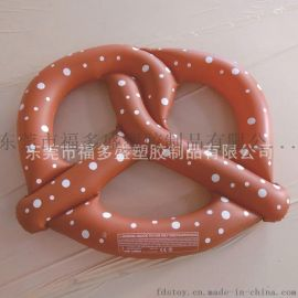 厂家福多盛直销各类PVC充气浮排 充气饼干浮排面包圈浮排 夏日水上休闲玩具