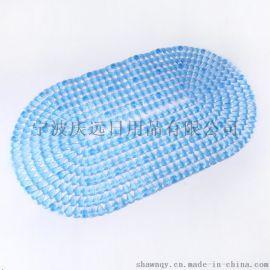 浴室防滑垫 椭圆钻石透明PVC防滑垫