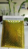 专业量身定制奢侈品快递包装专用-金色镀铝膜复合气泡信封袋 高端奢侈品快递包装新宠