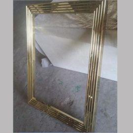 专业镜框定制 不锈钢玫瑰金镜框 外贸出口不锈钢镜框
