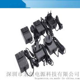 12V2A可換頭電源適配器 多功能插頭插牆式開關電源通用 宏創電源