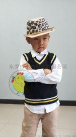 CHICK BABY 小鸡服装厂家专业定制幼儿园服马甲背心马甲情侣马甲全棉V领背心打底衫针织衫