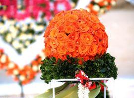 清鎮仿真花柱制造廠批發鮮花花門和鮮花花球
