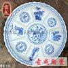 酒樓海鮮大瓷盤批發 景德鎮特色直徑80釐米分格大瓷盤 工廠直銷店