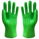 虎口加厚手套 防酸碱手套 绿色PVC浸塑 耐磨耐用防油
