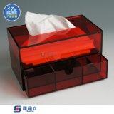 双层亚克力抽纸盒 高档压克力抽纸盒 酒店专用 合肥厂家定制直销