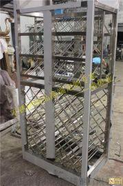 艺术型不锈钢红酒架子高档不锈钢酒架展示柜