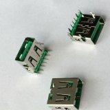 厂家直销USB AF 90度5PIN大电流连接器 USB快充母座直插DIP