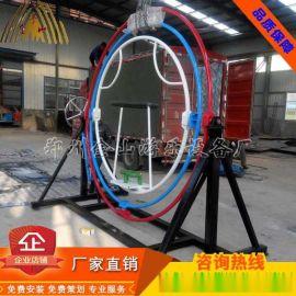 手动太空环价格、新型游乐设备、2座单环太空环图片