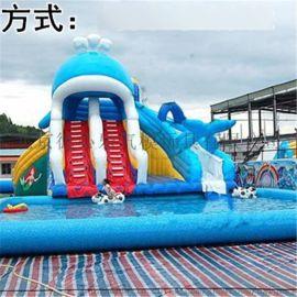 北京20***型充气水上游乐设备最新滑梯/生产厂家