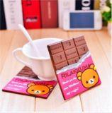 巧克力硅胶杯垫