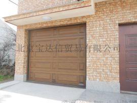 別墅鋁合金仿木車庫門,木紋浮雕車庫門,入戶門