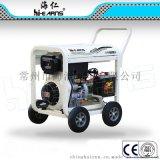 DG11000E3开架35方管U形扶手和圆弧板 4个10寸轮柴油发电机