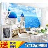 北欧麋鹿墙纸主题沙发卧室客厅电视背景墙壁纸个性3d创意壁画防水