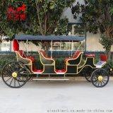 欧式三排观光马车旅游观光马车公园观光马车