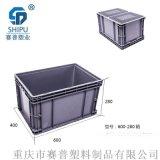 塑料600-340物流箱,可堆式周转箱,厂家直供