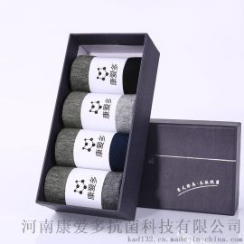 康爱多抗菌科技 抗菌防臭袜男士运动防臭袜四双盒装