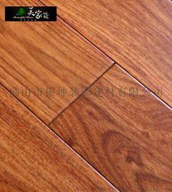 美家 纯实木亚花梨实木地板 家用地暖地热锁扣原木地板