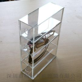 透明压克力眼镜展示盒 有机玻璃4层眼镜收纳盒