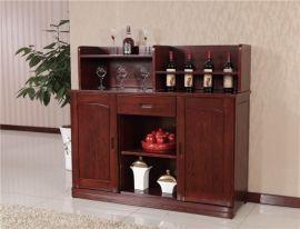 多功能实木餐边柜 木言木语精美餐边柜