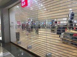 商场商铺透视水晶卷闸门