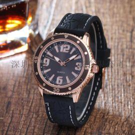 情侣手表时尚户外运动数字硅胶手表石英手表
