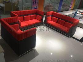 專業定制各種接待異型休閒沙發異型布藝沙發定制