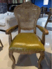 欧式圆背扶手椅 美式复古方背有扶手餐椅 可定制