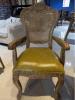 歐式圓背扶手椅 美式復古方背有扶手餐椅 可定制