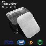 寿天 厂家 方形外卖打包盒 铝箔餐盒 飞机餐盒 长形锡纸餐盒250ml