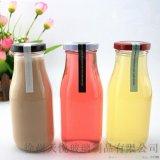 厂家直销300ml玻璃酸奶瓶奶茶瓶星巴克奶瓶鲜奶瓶铁盖牛奶玻璃瓶