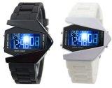 厂家直销LED电子手表 时尚运动七彩战斗飞机表 炫酷果冻飞机手表