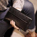 2016韩版新款长款女士钱包时尚软皮钱夹简约超薄款翻盖信封包