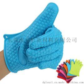 加厚隔熱防燙硅膠手套烘焙耐高溫硅膠手套立勝硅膠