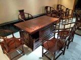 商务会所专用茶桌老榆木家具