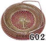 寶聖鑫手提式折疊金屬筐雞蛋籠大號雞蛋籃子