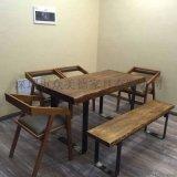 仿古木桌椅,餐厅桌椅单人椅子,木质餐厅家具定做厂商
