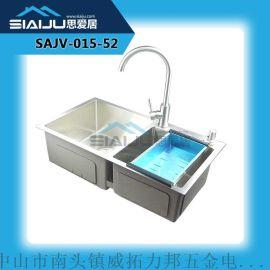 思愛居 雙槽套餐廚房洗菜洗碗盆洗手池一體槽304不鏽鋼水槽