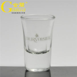 透明玻璃高脚白酒杯,可定制logo烈酒杯