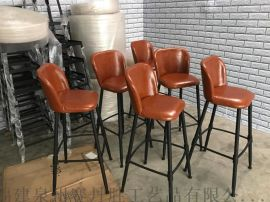 酒吧椅时尚舒适高脚椅靠背吧台椅子