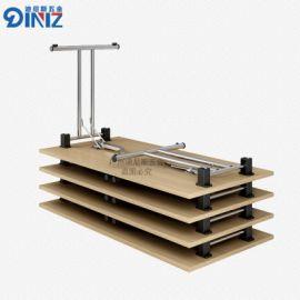迪尼斯外贸培训桌折叠桌折叠培训桌对折架桌架