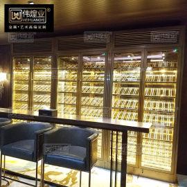 不鏽鋼酒櫃定制 家用 玫瑰金 酒櫃定制定做 紅酒櫃