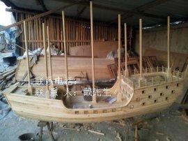 鄭和寶船模型木船廠家出售純手工小木船