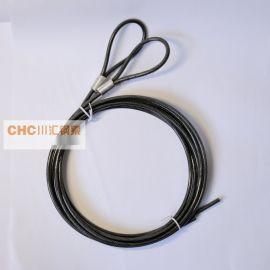 供应包胶透明黑钢丝绳,电脑锁专用包胶钢丝绳