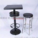 铸铁桌脚酒吧吧桌不锈钢吧椅家具安捷妮家具供应AJN-TB876