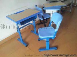 新款塑鋼課桌椅尺寸,廣東鴻美佳廠家優惠批發塑鋼課桌椅
