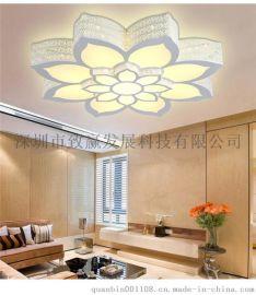 荷花吸頂燈 簡約大氣 客廳 臥室 LED吸頂燈
